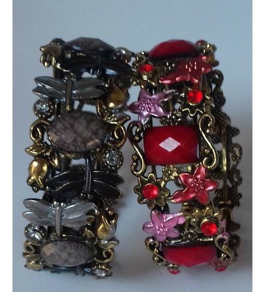 Bracelete-pulseira Feminina Ouro Velho- 2 Peças