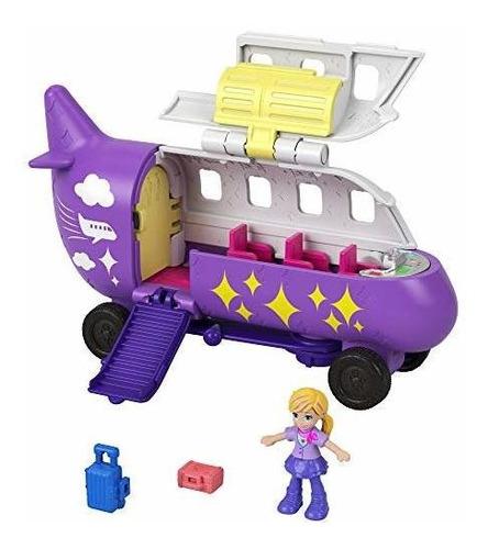 Polly Pocket Avion Pollyville Con Muñeca Micro Polly, Asie