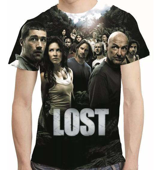 Camisa Série Camiseta Lost - Estampa Total