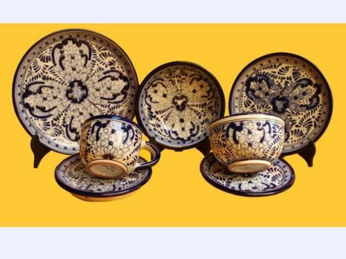Imagen 1 de 1 de Set De 2 Servicios De Vajilla Talavera Arte Casa Dosan Colon