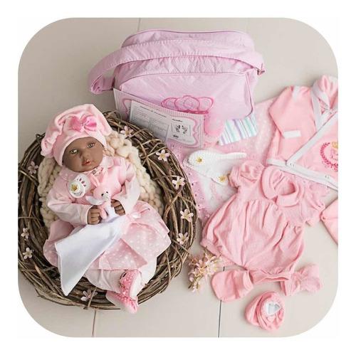 Bebe Real Reborn Negrinha Pretinha Preta + Kit 24 Itens