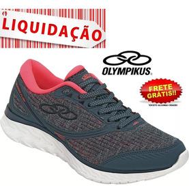 Tênis Olympikus Runner Flow Feminino Original Petróleo/rosa