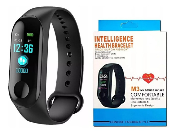 Pulseira Smart Band M3 Batimentos Cardiados Bluetooth