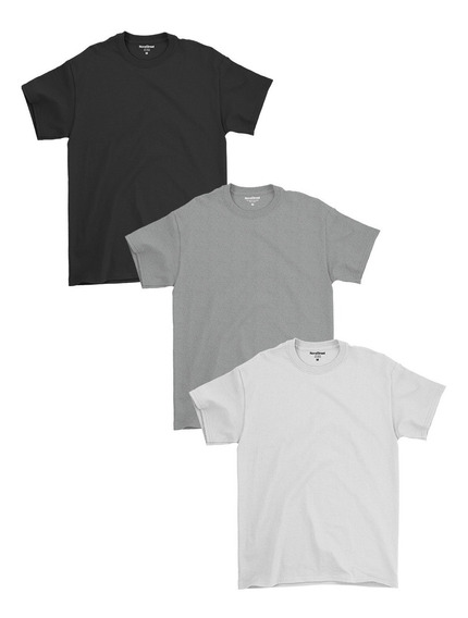 Kit 3 Camisetas Masculinas Básicas Lisa Algodão 30.1 Premium