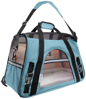 Oxgord Pet Carrier Mineral, Blue, Pets Up To 10 Lb, Small