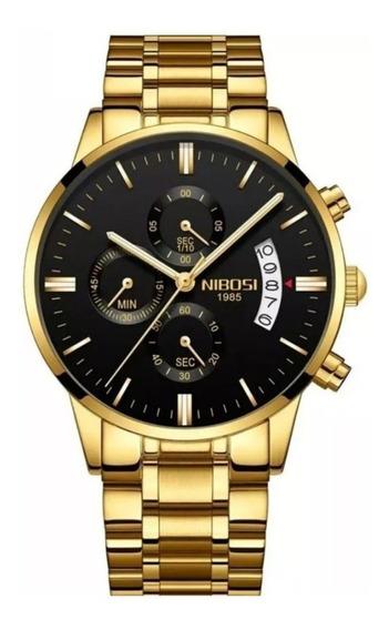 Kit Nibosi P/ Revenda 4 Relógios Masculino Garantia Caixa Na