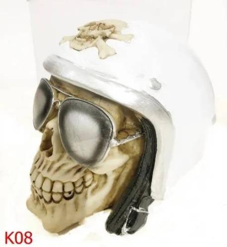 Caveira Cranio Decorativo Lenço Vermelho Scarf Red