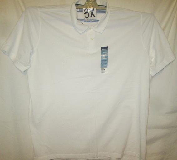 Camiseta Blancatipo Polo De Hombre Talla 3x Basic Edition
