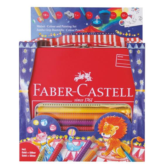 Faber Castell Lápices De Colores Grip Circo Valija X 18
