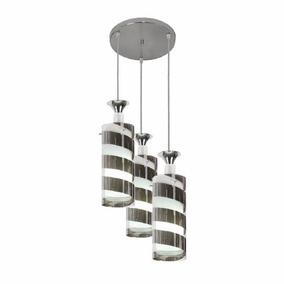 Lustre Para Mesa De Jantar Luminária Pendente 3 Lampadas E27