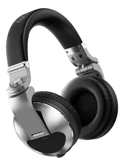 Fone de ouvido Pioneer HDJ-X10 prateado