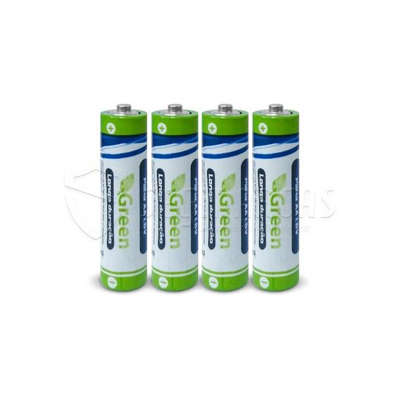 Pilhas Aa Baterias Green R03p 1,5v