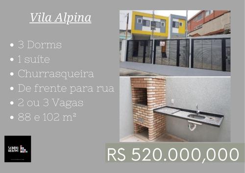 Vila Alpina 3 Dorms 1 Suíte 3 Vagas E Churrasqueira
