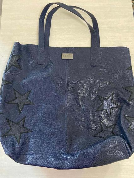 Bolso Besha Azul Con Estrellas! Muy Poco Uso!