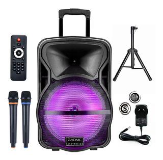 Mini Componente Bluetooth Luces Karaoke 2 Microfonos Cuotas
