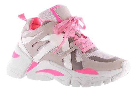 Tênis Feminino Chunky Sneaker Flatform Neon Original Zatz