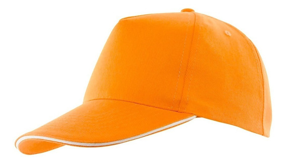 10 Gorros Lisos Naranja - Ideal Para Bordar/estampar