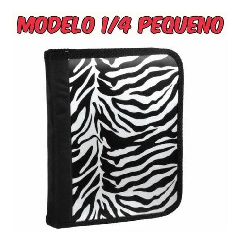 Fichário 1/4 Escolar Pequeno A5 Zebra Ref. 3078