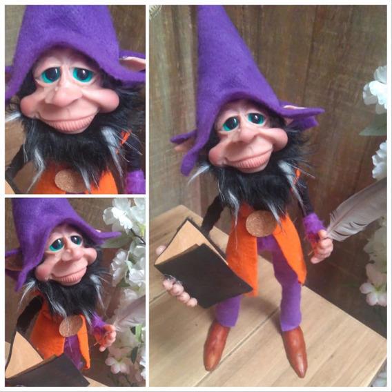 Duende Gnomo Poeta De 45cm Articulado Elfo Elf Pieza Unica