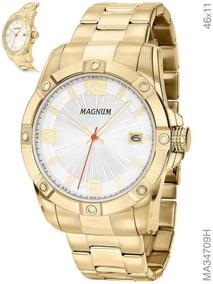 Relógio Magnum Masculino Ma34709h Dourado Aço Inoxidavel