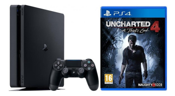 Playstation 4 Ps4 Slim 500gb + Uncharted 4