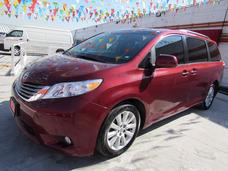 Toyota Sienna Xle Piel Roja 2015 Comonueva 3 Años Garantia