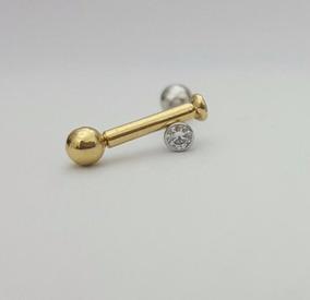 Piercing Orelhahelix Tragus Micro Ponto Ouro 18k 750