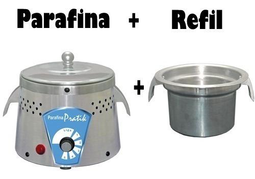 Aquecedor Parafina Inox + Refil - Parafineiro Pratik