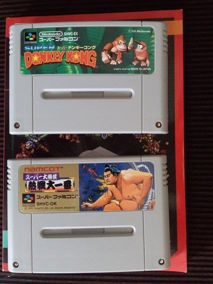Donkey Kong Country E Super Street Fighter Ll Originais +
