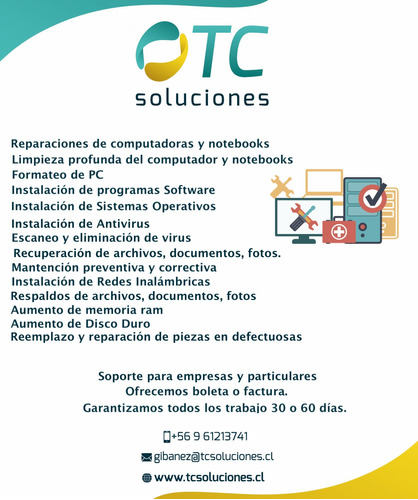 Servicio Técnico Y Mantención A Domicilio Notebook Y Pc