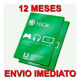 Xbox Live Gold 12 Meses Brasil Xbox 360 / Xbox One