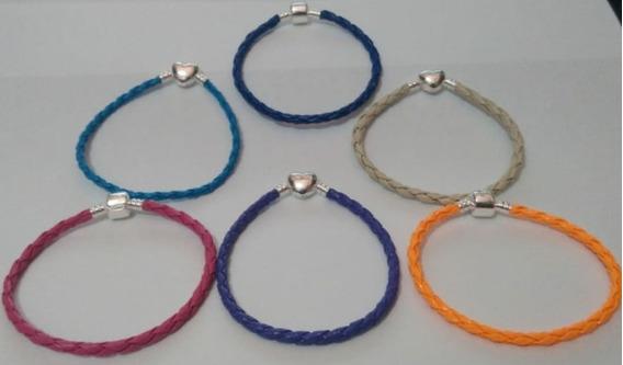 Bracelete Trançado Para Berloques Com Fecho Em Prata 950