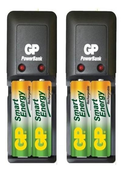 Cargador Gp Smart Con 4aa 1000mah Recargables