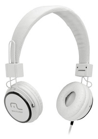 Headphone Head Fun Com Microfone P2 3,5mm Hi-fi Branco - Mul
