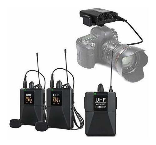 Xtuga X-cm012 Uhf Microfono Inalambrico Lavalier Dual, Siste