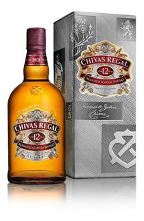Chivas Regal 12 Años Whisky Escocés Botella 1 L + Estuche