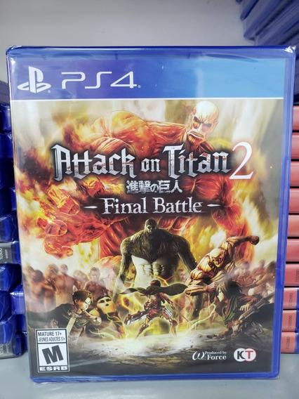 Attack On Titan 2 Final Battle Ps4 Mídia Física Novo Lacrado
