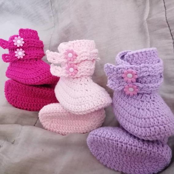 Botas Zapatos Zapatilla Tejidas Para Bebe Niñas Sandalias