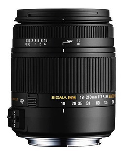 Lente Objetivo Sigma 18-250mm F3.5-6.3 Dc Macro Os Hsm Canon