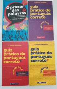 Lote Livros Guia Prático Do Português Correto C. Moreno