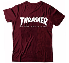 Camiseta Thrasher Flame Camisa Skate Board Tumblr