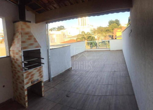 Imagem 1 de 28 de Cobertura Com 3 Dormitórios À Venda, 140 M² Por R$ 580.000,00 - Vila Eldízia - Santo André/sp - Co0070