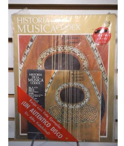 Historia De La Musica Codex 94 Fasiculo Y Disco Lp Acetato