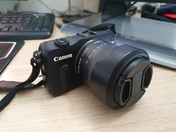 Câmera Canon Eos-m 18mp + 18-55mm