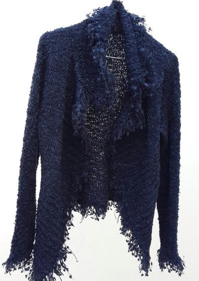 Saco De Dama Azul Oscuro Talle M