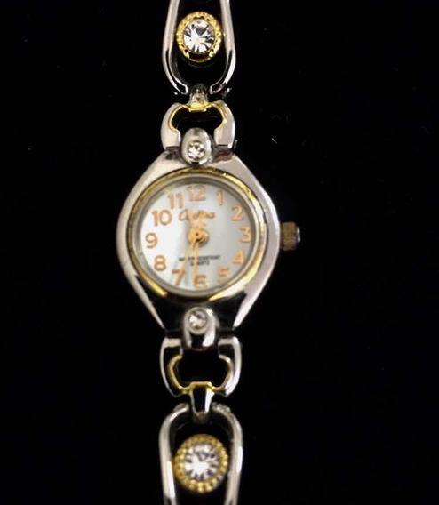 Relógio Feminino Cadina Branco Produto De Mostruário 014