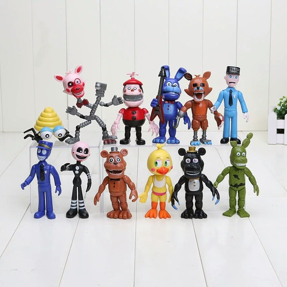 Kit Five Night At Freddy Action Kit 12 Bonecos Five Nights