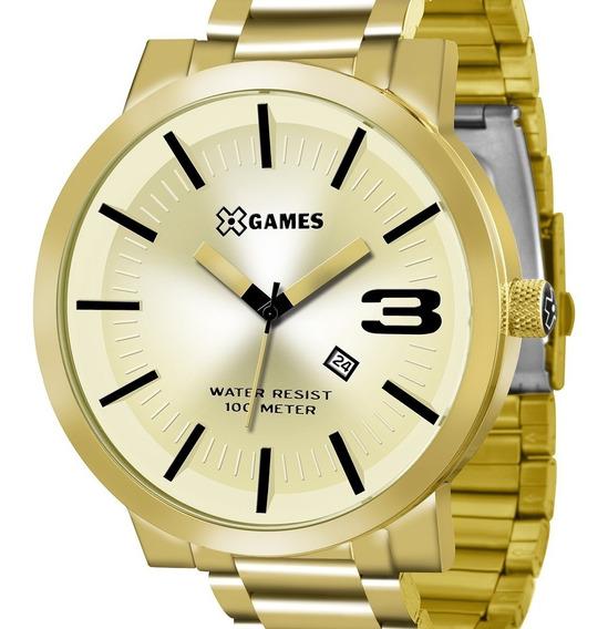 Relógio X-games Masculino Xmgs1007 C2kx Original Dourado