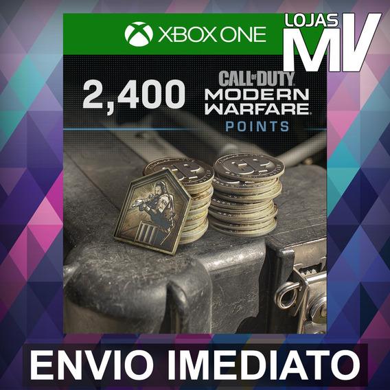 2400 Coins Call Of Duty Modern Warfare 25 Dígitos Xbox One