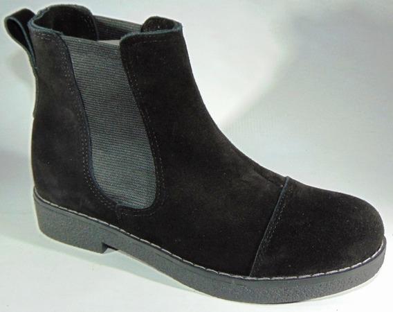 Zapatos Botineta Cuero Gamuza C/elastico Art 580 Legitimos